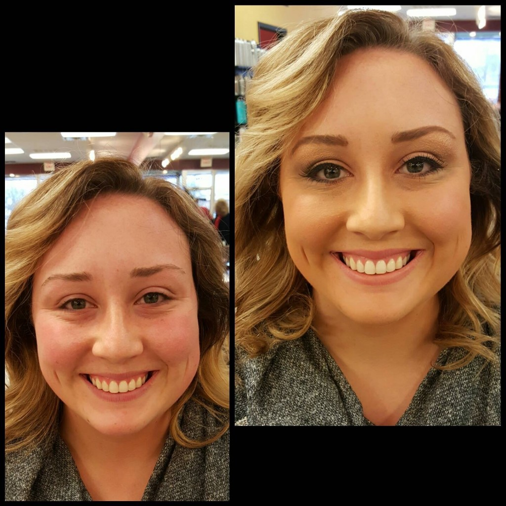 Airbrush makeup - before and after